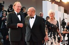 Canadian actor Donald Sutherland, Italian director Paolo Virzi and English actress Helen Mirren attend the 74th Venice Film Festival on the…
