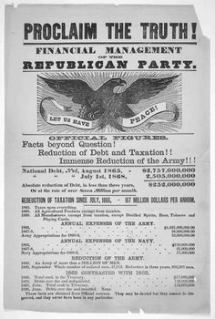 1868 broadside, Proclaim the truth! Financial management of the Republican Party. LOC