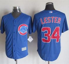 0cc3c659a70 Cubs  34 Jon Lester Blue New Cool Base Stitched MLB Jersey
