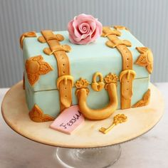 suitcase cake More