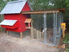 chicken coop from dog kennel - Google Search