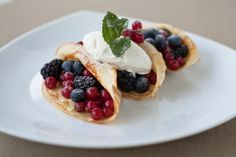 Delicious 'Summer berry pancakes with crème fraîche' from Table Talk ...