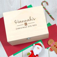 A bespoke and sophisticated Christmas Eve Box, made from wood and fully customisable with your choice of up to 4 Christmas themed symbols.Further personalise your box with up to 4 Christmas themed symbols. Choose from our range of 12 symbols: Snowflake, Holly, Deer, Christmas Tree, Star, Gift, Bow, North Star, Leaping Reindeer, Penguin, Santa or Rudolph. You may also add a secret message for the bottom of the box, simply choose the 'Secret Message' option. Input any message you would like…