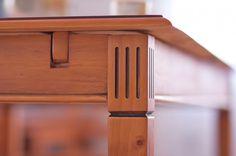 Essgruppe 140cm Gotland - Esstisch & 6 Stühle - Pinie massiv - honigbraun - gebeizt & lackiert