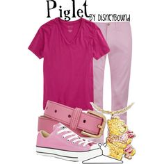 Piglet, created by lalakay on Polyvore