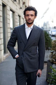 Cesare Attolini double breasted grey suit