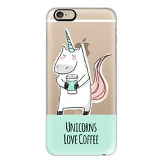iPhone 6 Plus/6/5/5s/5c Case - Unicorns Love Coffee - Mint Green ($40) ❤ liked on Polyvore featuring accessories, tech accessories, iphone case, iphone cover case, mint iphone case, slim iphone case and apple iphone cases