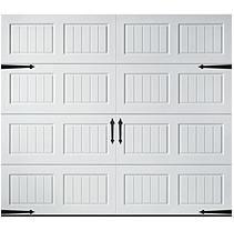 Amarr Oak Summit 1000 White Panel Garage Door Multiple Options Single Garage Door White Garage Doors Garage Door Panels