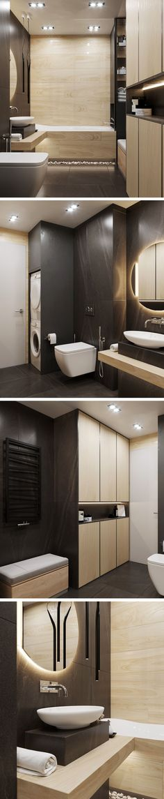 Bathroom in St.Petersburg - Галерея - Bathroom in St.Petersburg – Галерея Imágenes efectivas que le proporcionamos sobre - Baby Bathroom, Laundry In Bathroom, Laundry Rooms, Bathroom Ideas, Bathroom Design Small, Modern Bathroom, Floor Design, House Design, Home Staging