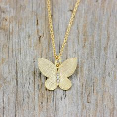 Small pendants gold butterfly gold charms by KyklosJewelryLab