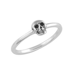 Image of Skull Ring II {STERLING SILVER}