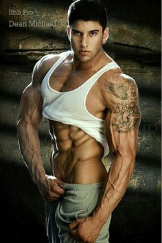 Dean Michael, male fitness model | © Luis Rafael ► www.facebook.com/luisrafael4photos # pecs six pack abs hunk men nice arms bare chest hot guy male body shirtless musculoso