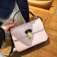 Louis Vuitton Ladylike Cherrywood Glossy Patent Bag M53355 Rose Louis Vuitton Ladylike Cherrywood Glossy Patent Bag M53355 Rose
