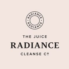 Logo designed by Construct for high quality, nutritional and organic juice cleanse programme Radiance