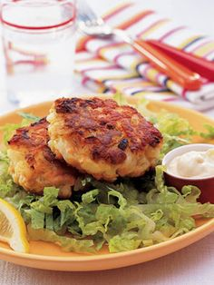 Salmon Cakes with Soy-Ginger Mayo