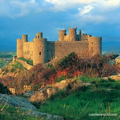 Harlech Castle, #Wales Built by Edward I during his invasion of Wales at substantial costs, it played an important part in several wars. It is regarded as one of the finest examples of military architecture in Europe