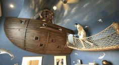 Детская игровая Кровать-корабль