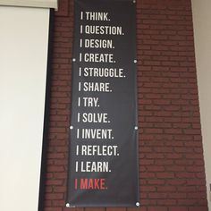 """""""The Maker Manifesto - Cool posters in the Tehama COE Maker Space Cultura Maker, Cool Posters, Classroom Decor, Chalkboard Quotes, Maker Space, Art Quotes, Letter Board, Lettering, Twitter"""