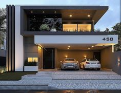 House design, villa design, modern house plans, residential architecture, a Modern House Facades, Modern Architecture House, Modern House Plans, Architecture Design, Computer Architecture, Modern Houses, Residential Architecture, Duplex House Design, House Front Design