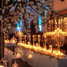 Candle-lit dining & winter wonderland theme