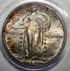 1923-S 25C PCGS MS67FH StandingLibertyQuarter Beautiful Coin Quarter Rarity #HighGrade Rare #Tone