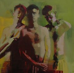 """Mark Horst - brothers no.26, oil on canvas. 24"""" x 24"""". 2011, via Flickr"""