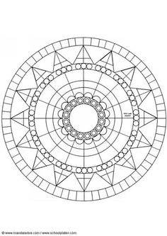 This beginners Mandala coloring sheet is a fun design and easy to color. Mandala 36 coloring page can be decorated online with the interactive . Mandala Art, Circle Mandala, Mandala Pattern, Pattern Art, Mandala Painting, Geometric Patterns, Mosaic Patterns, Geometric Art, Dot Patterns
