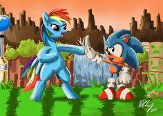 Sonic+and+Rainbow+Dash+by+ProjectZuel.deviantart.com+on+@deviantART
