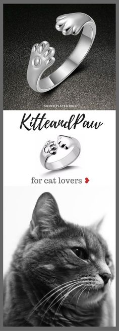 Ring for cat lovers ❥ A touch of cuteness