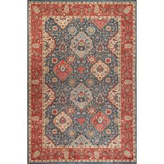 Keep high-traffic areas looking elegant with this versatile rug, showcasing a Persian motif.  Product: RugConstruct...
