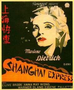 SHANGHAI EXPRESS; French poster.