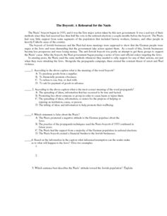 short set of discussion questions or study guide questions for the this handout could be used for the book thief or other holocaust units it
