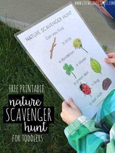 Nature Scavenger Hunt for Toddlers - Life With My Littles Love this simple, free, printable nature scavenger hunt for toddlers! It's easy and perfect for little learners who want to explore. The perfect outdoor activity for toddlers! Toddler Scavenger Hunt, Preschool Scavenger Hunt, Outdoor Scavenger Hunts, Nature Scavenger Hunts, Outdoor Activities For Toddlers, Nature Activities, Games For Toddlers, Spring Activities, Preschool Activities