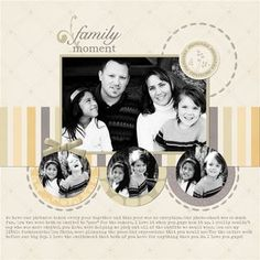 Family Moments digital photo book / scrapbook page designed by Jen Martakis, Garden tranquility Digital Kit & Basic Pattern Digital Overlays, Font: Typenoksidi,  Detailed Instructions on Creative Memories Project Center:  http://projectcenter.creativememories.com/digital/2011/10/designed-byjen-martakis-ingredients-storybook-creator-plus-30-garden-tranquility-digital-kit-basic-pattern-dig.html