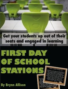 Using stations on the first day of school sets the tone for the year. Show students that they will be out of their seats, engaged in learning, and collaborating with classmates in your classroom. These six stations, some group tasks and some independent tasks, are intended for completion within a 45-minute period. These stations can be used in any subject or grade level, and all of the station directions and activities can be edited to fit the needs of your classroom.