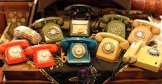 Çevirmeli telefonlar =)  #rotary #phone #vintage #retro #balat #telefon #eski #eşya
