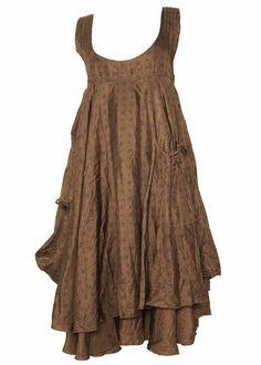 like the narrow yoke Ewa i Walla Vanessa Silk Dress - vanessa - La Vie en Rose - Exclusive ...