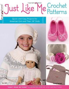 Dolly and Me Crochet Patterns – 18-inch Dolls & Matching Girls – Crocheted Buddies