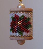 Poinsettia Spool Ornament Pattern