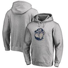 Georgetown Hoyas Fanatics Branded Big & Tall Primary Team Logo Pullover Hoodie - Heathered Gray