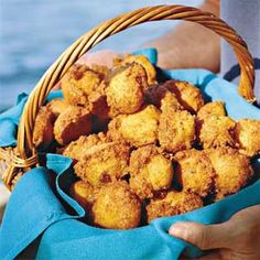 Hush Puppies...Instead of the bell pepper, use diced Jalapeno or Green Chilies, use sweet onions and mix in some cream corn...sweet with a kick