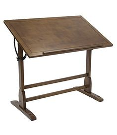 The classic design of the Vintage Table is reminiscent of turn-of-the-century furnishings. It features ample workspace on elegantly distressed wood with a built-in pencil groove. The antique finished surface top adjusts in angle from flat to 90 degrees for versatility and sits on a solid wood... more details available at https://furniture.bestselleroutlets.com/home-office-furniture/drafting-tables/product-review-for-offex-elegant-distressed-wood-vintage-drafting-table-rustic-