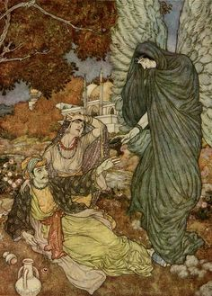 Edmund Dulac (Angel of the Drink of Darkness) from The Rubiyat