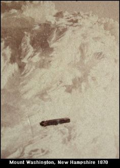 """A lot of the """"early"""" UFO photos that we're familiar with come from the mid 1900's. However, the earliest known photo of a UFO actually dates back to the 1800's.   The image below was shot at Mount Washington, New Hampshire in 1870 or 1871 (although some sources have dated it to 1880 or as late as 1896). As you can see, there's a picture of what appears to be cloud formation...with what appears to be a cigar shaped UFO flying in front of it!"""