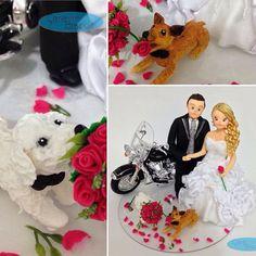 ❤️#noivinhospersonalizados ❤️ 🐶 #cachorrinhos #animaisdeestimação #weddingcaketopper #weddingcaketoppers #weddingcake #noivas #noivos #noivasdeminas #noivinhos #vestidodenoiva #noivasdobrasil #buquepink #poodle #pinscher #harleydavidson #custom #hdcustom #motociclista #casamento #casacomigo #casamentos #love 👉🏻 orçamentos: 💌 caraarteembiscuit@yahoo.com.br, ou mensagem inbox na página https://facebook.com/caraarteembiscuit
