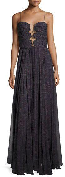 Haute Hippie The Gala Printed Silk Maxi Dress, Ursula