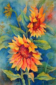 """Sunflower Sonata"" - Original Fine Art for Sale - © Martha Kisling"