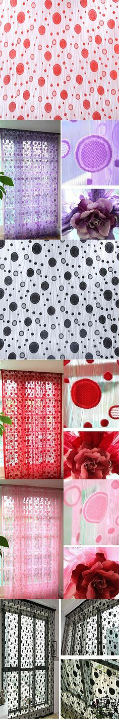 Circle Line String Door Curtain Tassel Windows Room Various Color Divider Curtain Tulle Curtains For Living Room Bedroom