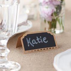 Niedliche Namenskarten im angesagten Vintage Style für die Hochzeit im Herbst-Look