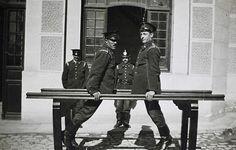 1936 Bomberos haciendo Gimnasia